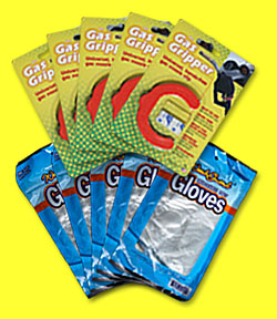 5 pack gas gripper with gloves